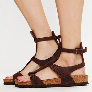 Birkenstock Chania Gladiator Brown Leather Sandal